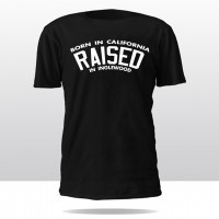 BORN N RAISED CREW TEE (black/white)