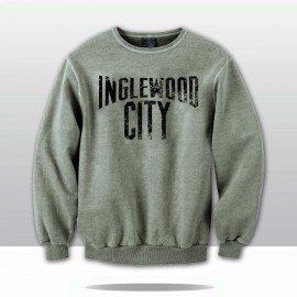 INGLEWOOD CITY DISTRESSED CREWNECK SWEATSHIRT  (grey/black)
