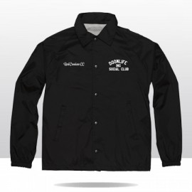 DOOMLIFE INGLEWOOD SOCIAL CLUB  COACH  JACKET (black/white)