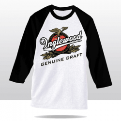 IGD BEER LABEL RAGLAN TEE (white/black)