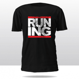 RUN-INGLEWOOD CITY TEE   (black/red/white)