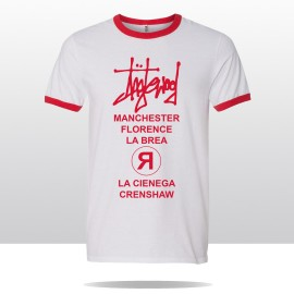 STREETS OF ING  RINGER TEE (white/red)