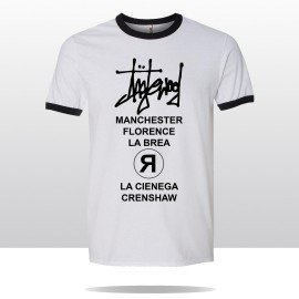 STREETS OF ING  RINGER TEE (white/Black)