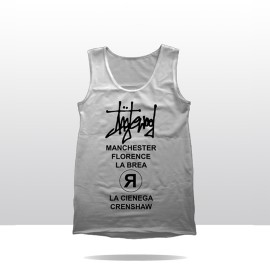 STREETS OF ING TANK TOP (white/black)