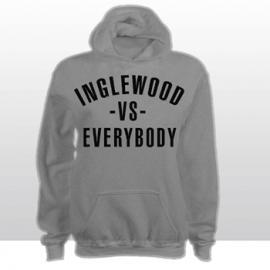 INGLEWOOD Vs EVERYBODY HOODED SWEATSHIRT  (grey)