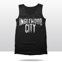 INGLEWOOD CITY DISTRESSED  TANK TOP (blk/wht)